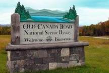 Old Canada Road National Scenic Byway / The Old Canada Road Scenic Byway is a snapshot in time. Tracing the route of generations of travelers between Maine and Quebec, this segment of Route 201 is one of the most beautiful in the northeast. This scenic corridor winds right alongside the Kennebec River, Wyman Lake, the Dead River and vast working forests. Due to its remote and unspoiled character, this is a spectacular place. Northern Outdoors Adventure Resort is located on the Old Canada Road.