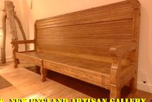 Benches & Shelving / Restored, antique & hand made benches & shelves for your seating & displaying pleasure.