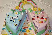 Boy and girl cake