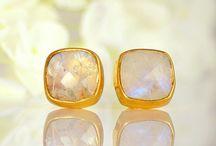 Gemstone Stud Earrings / by Danique Jewelry