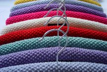 Knitted coat hanger covers
