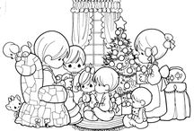 Christmas / Winter coloring pages