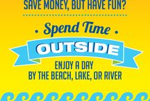 Summer Savings / Fun in the sun super savings tips. Getting the most out of your summer without breaking the bank!