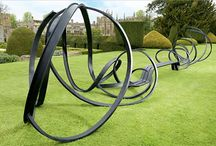 art-metal landscape and urban sculpture