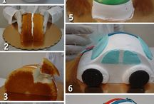 VW Bug cakes