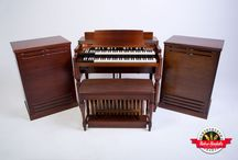 "Hammond B3 Leslie 122s - Retro Rentals / This Hammond B3 was transformed into the perfect performing machine. Reverb was added, as well as super quiet 3-speed switching for the Leslie speaker – fast, slow and stop. Foot switching is also available for those that want to keep all hands on deck. A custom EQ box is available to be toggled on when a brighter organ is desired, or the ability to overdrive gain. Capable of powering up to 4 Leslies simultaneously. If that isn't enough, go ¼"" line out into your favorite amp system."