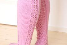 Vaalenpunaiset sukat
