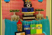 Boy's Despicable Me/Minion Party / Despicable   Minion   movie   Gru   boy   birthday   party   ideas   cake   decorations   themes   supplies   favor   invitation   cupcakes  cakepops