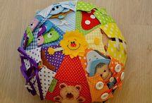 Baby educational fabric ball