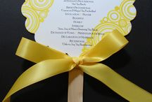 Wedding - Invitations, Programs, Table Numbers, Escort Card Table