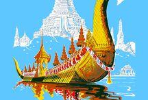 Siam - Thailand vintage poster / Siam - Thailand vintage poster