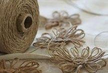 Arte em sisal , barbante , lã , cordões e linhas