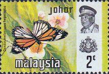 Malaya - Johor Stamps