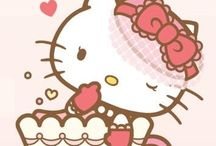Hello kitty y la taza de café