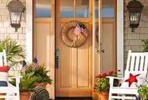 stoop, front door