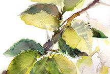 Leaves paintings