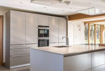 bulthaup b3 kitchen in an oak-framed countryside home