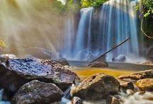 Waterfalls in Phnom Kulen National Park, Cambodia #HeathrowGatwickCars.com
