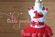 Elmo Party for Girls / These are inspiration or actual items I purchased for Arianna's first birthday party