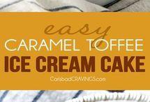 Caramel toffee ice cream cake