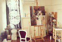 Sanat / Bülent Gürcihan's studio