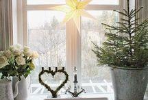 Fönster vid jul
