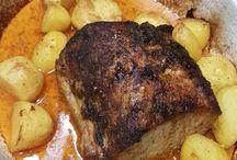 rôti d porc avec pom.de terre