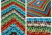 Crochet - Afghans, Lapghans, Blankets, Bedspreads n Such / Afghans, Blankets, Throws, Squares to make them, Joining Techniques, Wrapghans, Baby Blankets, Picnic Blankets.... here they are! / by Muna Saigol