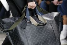 Time for Business / Fashion Leather and Canvases Handbags for Men, suit for work or travel.