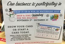 Waterbury Wrap it up and Win! / Waterbury Vermont's annual Wrap it up and Win has started for the 2015 holiday season! Grab your wrap it up and win card at one of many participating local businesses in Waterbury. Visit http://revitalizingwaterbury.org/blog/wrap-it-up-win.php to see local participating stores.