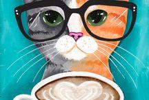 gatto con occhiali