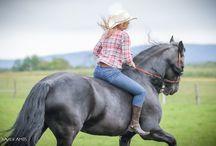 Shooting Western oct 2016 / Shooting Western octobre 2016 Marion et Phéa  Licol de monte *Farm* et ceinture cuir par Fairy Horse http://fairyhorse.com Photographie par Xavier Ambs