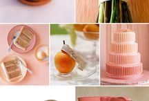 Peach, pink, coral palette