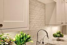 Updated kitchen ideas / Love backsplash , sink,granite