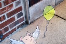 Art - Urban - Zinn / Lovable street art by David Zinn. May he carry on forever and do the whole globe.