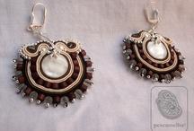 pescamelba earrings / soutache texitile jewel