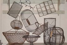 Baskets wicker and wire / A little touch of France and country