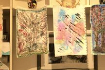 Experimental Art / Abstraction from nature in mixed media and Collographic Printing