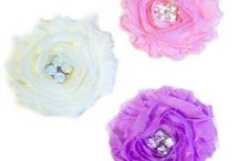 Dog Hair Accessories / Fancy dog hair bows and hair poofs hand made by Dog Collar Fancy.