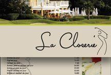 Restaurants / Menu, sites internets, carte de visite, set de table