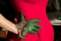 Ladies Fashion - Leather Gloves / Style and Beauty with Leather Gloves