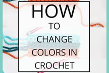 How to change colours in crochet