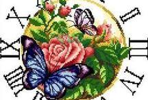 Motýli - vyšívání
