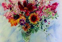 Ian Mowforth's Blumen-Entwicklung / Malerei