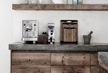 Kjøkken / Jeg ser etter ideer til å lage kjøkkenøy i betong, kanskje kombinert med tre.