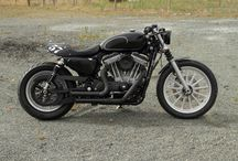 HD883 Cafe-Dragster / Built from a Superlow