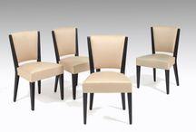 Eugène Printz (1889-1948) / A rare set of chairs and armchairs. Circa 1933.