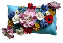 Plstěné květiny