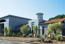 The Clos Pegase Estate / Vineyard and estate architecture by designer Michael Graves