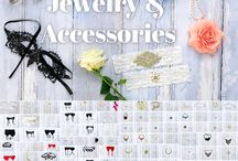 Our Wardrobe: Jewelry and Accessories / Necklaces, earrings, shoes, hair pieces, scarves and other accessories for boudoir photography